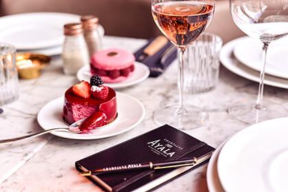 Il vino champagne della Maison Ayala abbinato ad un dessert